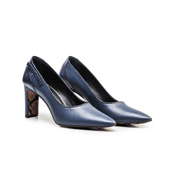 کفش رسمی زنانه A-8018 آبی کلاسیک