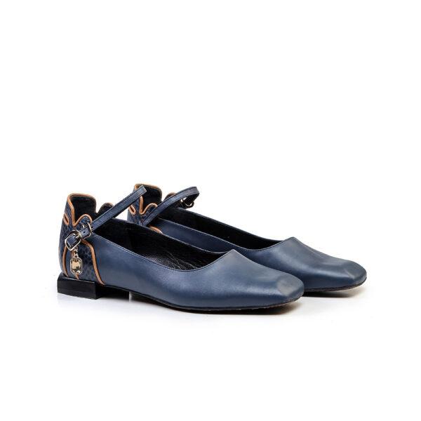 کفش کالج و اسپرت زنانه A-8019 آبی کلاسیک