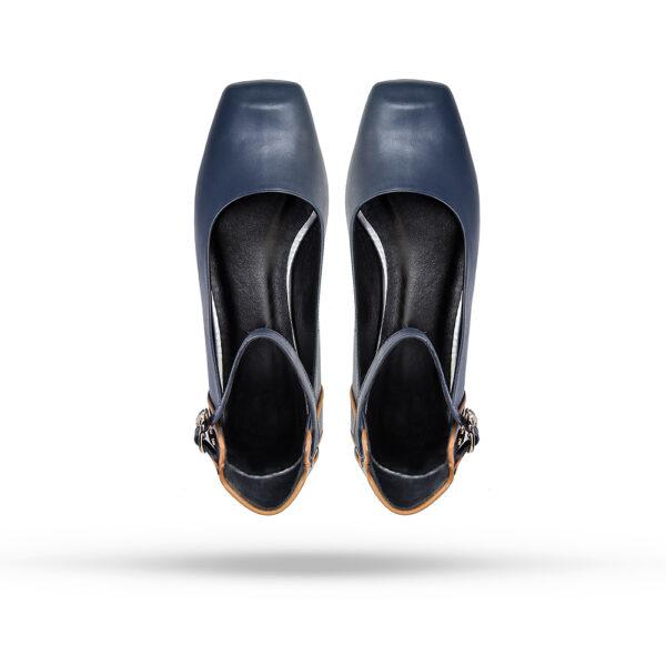 کفش کالج زنانه A-8019 آبی کلاسیک