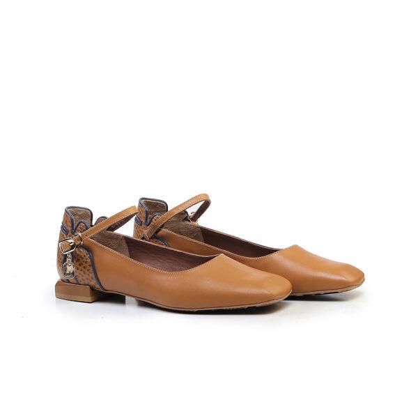 کفش کالج و اسپرت زنانه A-8019 خردلی