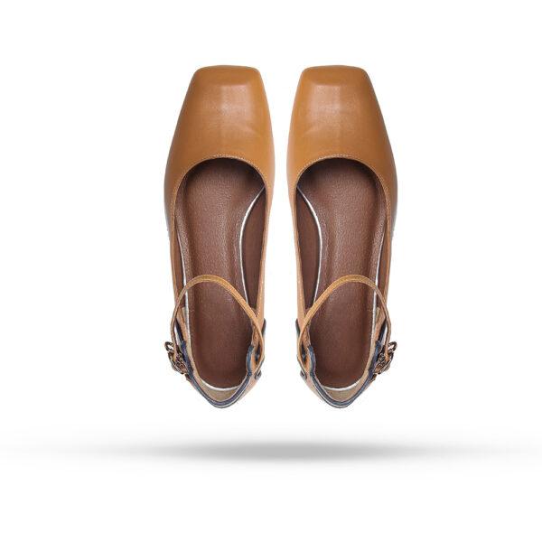 کفش کالج زنانه A-8019 خردلی