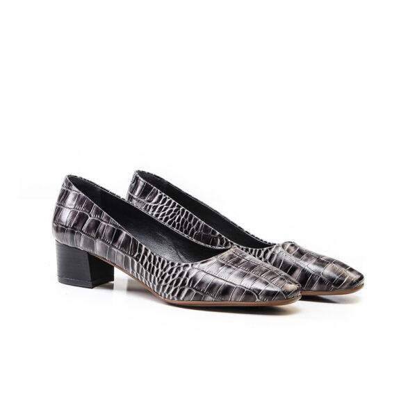 کفش رسمی زنانه 8014 طوسی