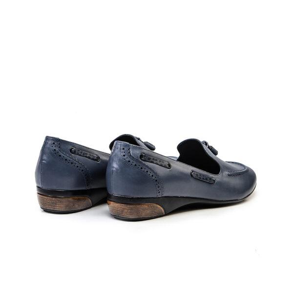 کفش کالج زنانه 8016 آبی کلاسیک