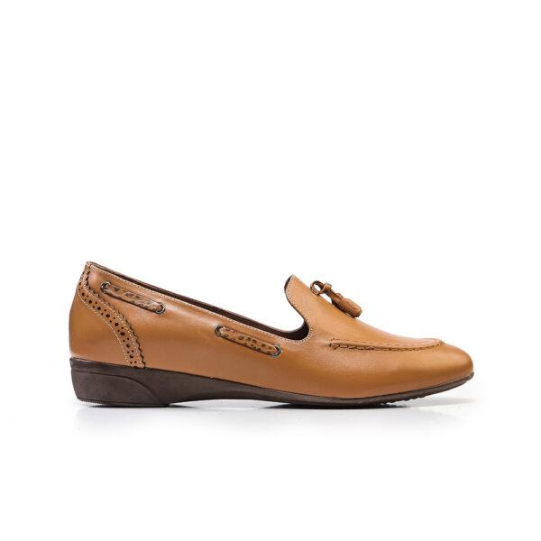 کفش کالج زنانه 8016 خردلی