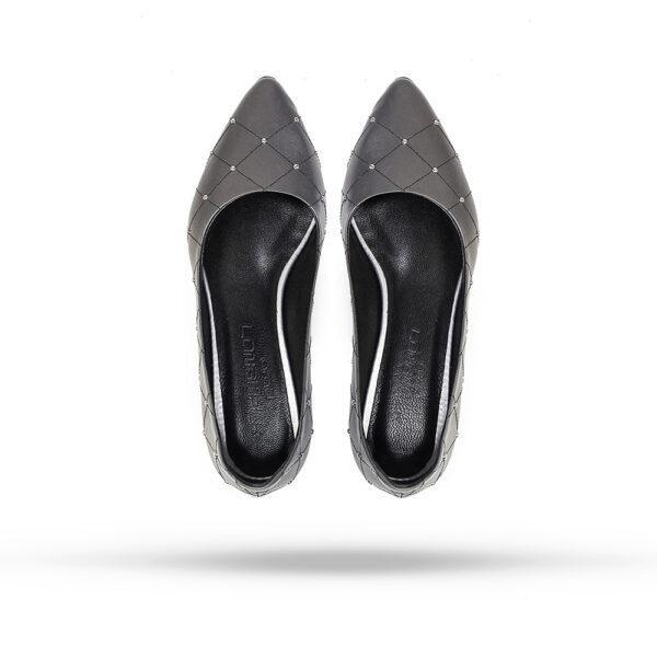 کفش رسمی و کالج زنانه 8017 طوسی