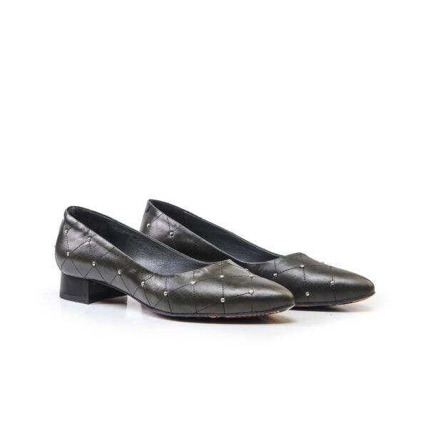 کفش رسمی و اسپرت و کالج زنانه 8017 یشمی